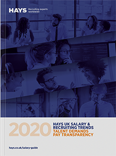 Hays UK Salary & Recruiting Trends Guide cover